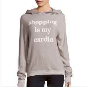 Wildfox Shopping is My Cardio Hoodie SZ XS